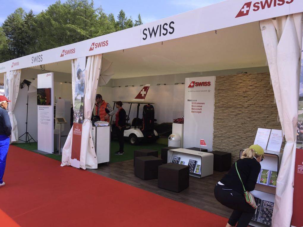 Swiss int. Airline, European Golf Traveler